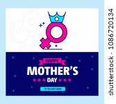 happy mother's day greetings... | Shutterstock .eps vector #1086720134