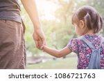 closeup little asian girl...   Shutterstock . vector #1086721763