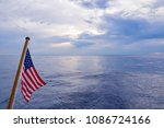 American Flag Flying On A Yacht ...