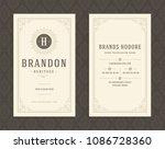 luxury business card template...   Shutterstock .eps vector #1086728360