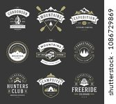 camping logos design templates... | Shutterstock .eps vector #1086729869