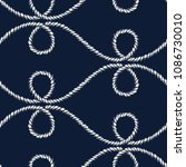 seamless nautical rope pattern. ... | Shutterstock . vector #1086730010