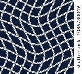 seamless nautical rope pattern. ... | Shutterstock . vector #1086730049