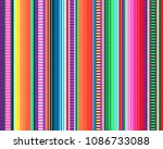 seamless mexican rug pattern.... | Shutterstock .eps vector #1086733088