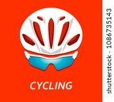 modern illustration of cyclist... | Shutterstock . vector #1086735143