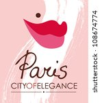 paris city conceptual poster vector illustration eps 10 - stock vector