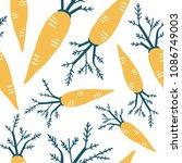 carrot vector seamless pattern. ...   Shutterstock .eps vector #1086749003