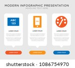 business infographic template... | Shutterstock .eps vector #1086754970