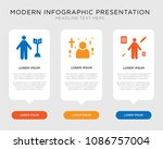 business infographic template... | Shutterstock .eps vector #1086757004