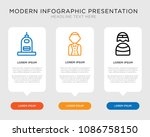 business infographic template... | Shutterstock .eps vector #1086758150