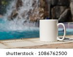 white blank coffee mug mock up  ... | Shutterstock . vector #1086762500