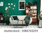 cozy  designer living room... | Shutterstock . vector #1086763259