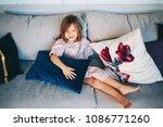 happy children are sitting on...   Shutterstock . vector #1086771260