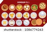 illustration vector set of dim... | Shutterstock .eps vector #1086774263