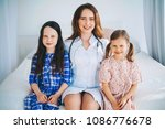 little girls trust a young... | Shutterstock . vector #1086776678