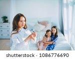 little girls trust a young...   Shutterstock . vector #1086776690