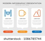 business infographic template... | Shutterstock .eps vector #1086785744