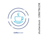 tea time line art icon  coffee... | Shutterstock .eps vector #1086786158