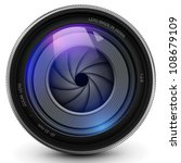 camera photo lens with shutter. | Shutterstock .eps vector #108679109