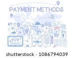 payment methods set  credit... | Shutterstock .eps vector #1086794039
