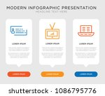business infographic template... | Shutterstock .eps vector #1086795776