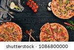 set pizza. italian cuisine. top ... | Shutterstock . vector #1086800000