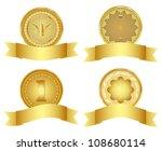 set of golden  design elements. ...   Shutterstock . vector #108680114