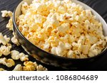 homemade salted popcorn with... | Shutterstock . vector #1086804689
