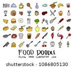 hand drawn sketch doodle vector ...   Shutterstock .eps vector #1086805130