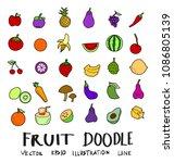 hand drawn sketch doodle vector ... | Shutterstock .eps vector #1086805139