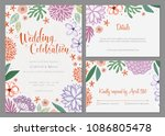 invitation and universal card... | Shutterstock .eps vector #1086805478