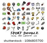 hand drawn sketch doodle vector ... | Shutterstock .eps vector #1086805700