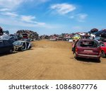 car disassembly  used cars ... | Shutterstock . vector #1086807776