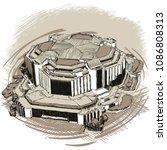 landmarks of sofia   national...   Shutterstock .eps vector #1086808313