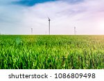 renewable energies and... | Shutterstock . vector #1086809498