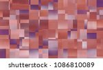 abstract background. red mosaic.... | Shutterstock . vector #1086810089