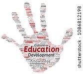 vector conceptual education ... | Shutterstock .eps vector #1086812198