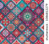 seamless pattern with... | Shutterstock .eps vector #1086812279