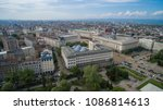 aerial view of downtown sofia ... | Shutterstock . vector #1086814613