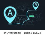 gps navigator point a to point... | Shutterstock .eps vector #1086816626