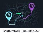 gps navigator design page. pin... | Shutterstock .eps vector #1086816650