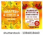 autumn fall fest and october... | Shutterstock .eps vector #1086818660