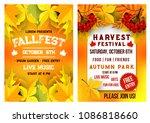 autumn fall fest and october... | Shutterstock .eps vector #1086818660