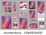 corporate identity template set.... | Shutterstock .eps vector #1086826400