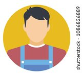 flat icon of a man wearing an... | Shutterstock .eps vector #1086826889
