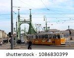 liberty bridge in budapest ... | Shutterstock . vector #1086830399