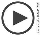 play button vector icon. music  ... | Shutterstock .eps vector #1086831350