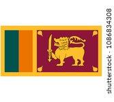 flag of sri lanka officially...   Shutterstock .eps vector #1086834308
