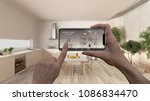 remote home control system on a ...   Shutterstock . vector #1086834470