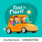 travel concept. happy friends... | Shutterstock .eps vector #1086835583